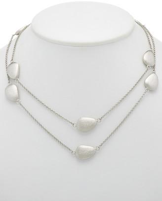 Rivka Friedman White Rhodium Clad 36In Necklace