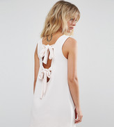 Asos Sleeveless Ribbed Bow Back Mini Dress