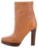 Michael Kors Leather Platform Ankle Boots