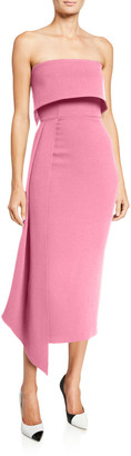 Alex Perry Alexander Strapless Asymmetric Dress