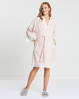 Angel Maternity 3-Piece Hospital Pack - Nursing Dress + Lace Robe + Baby Wrap Set