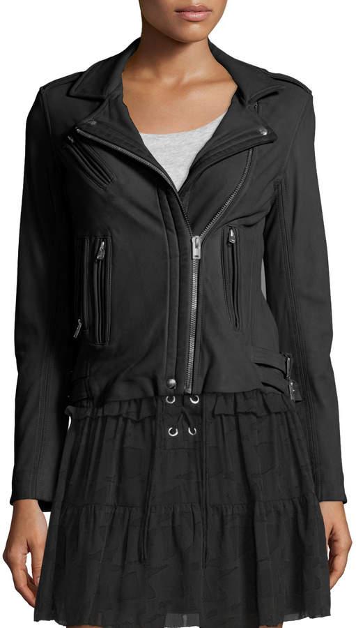 IRO Han Leather Motor Jacket, Black