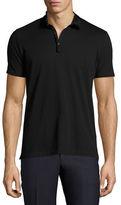Lanvin Georgette-Collar Polo Shirt