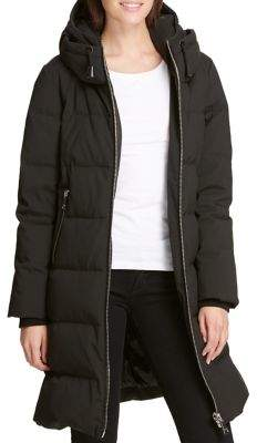 DKNY Down-Filled Hooded Puffer Coat