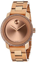 Movado 3600151 Women's Bold Diamond Rose-Tone Stainless Steel Rose-Tone Dial