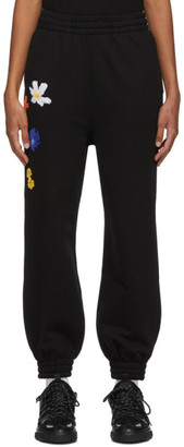 McQ Black Flower Embroidery Athena Lounge Pants