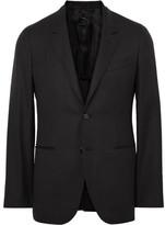 Caruso Black Butterfly Slim-Fit Wool-Hopsack Blazer