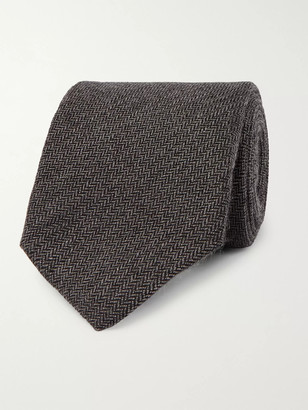 Kingsman + Drake's 8cm Herringbone Cashmere Tie