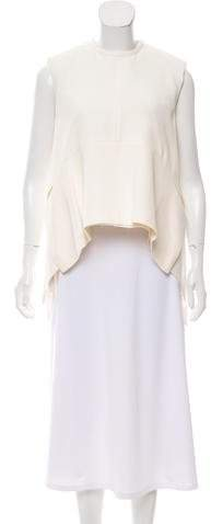 Celine Pleated High-Low Top