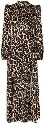 De La Vali Clara leopard-print midi dress