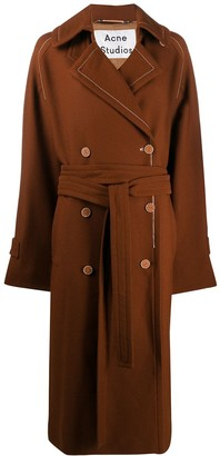Acne Studios Oversized Belted Trench Coat