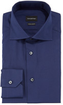 Ermenegildo Zegna Men's Milano Fit Solid Trofeo Comfort Cotton Dress Shirt