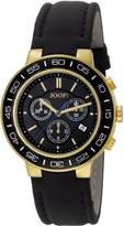 JOOP! Joop Insight Men's Quartz Watch with Black Dial Chronograph Display and Black Leather Strap JP100911F05