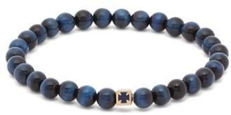 Luis Morais Cube Charm Beaded Bracelet - Mens - Blue Multi