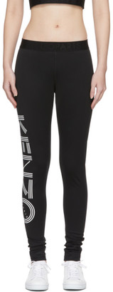 Kenzo Black Logo Sports Leggings