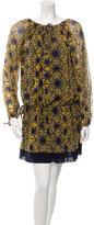 Jean Paul Gaultier Printed Long Sleeve Dress w/ Tags