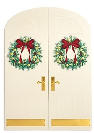 MASTERPIECE Holiday Doorway Holiday Cards, Set of 16