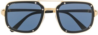 Cartier Santos de square-frame sunglasses