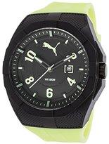 Puma Quartz Plastic and Polyurethane Casual Watch, Color:Yellow (Model: PU103501010)