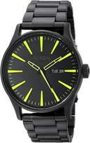 Nixon Men's Sentry Ss A3561256 Stainless-Steel Quartz Watch