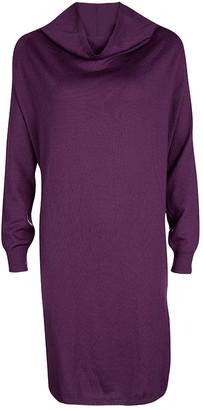 Jean Paul Gaultier Maille Femme Purple Turtle Neck Long Sleeve Sweater Dress M