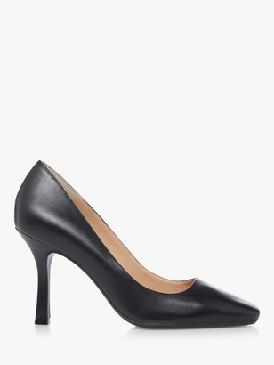 Dune Alara Leather Square Toe Court Shoes