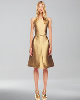 Michael Kors A-Line Shantung Dress