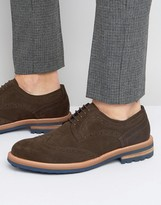 Dune Blind Side Suede Derby Brogue Shoes