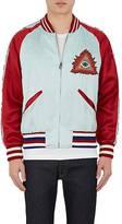 Gucci Men's Appliquéd Satin Bomber Jacket