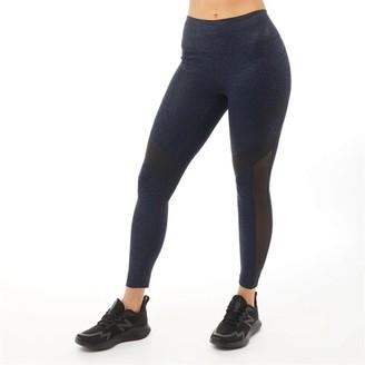 New Balance Womens Deep Waisted Printed Pocket 7/8 Running Tight Legging Navy