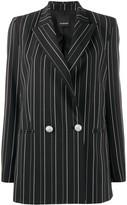 Pinko Striped Double-Breasted Blazer