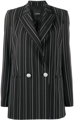 Pinko Striped Double-Breasted Blazer