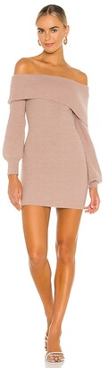 Lovers + Friends Mini Off Shoulder Knit Dress
