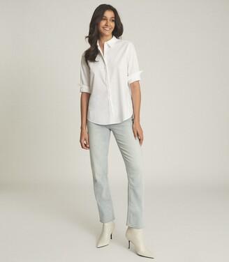 Reiss Paola - Relaxed Boyfriend Shirt in White
