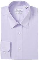 Calvin Klein Textured Solid Slim Fit Stretch Dress Shirt