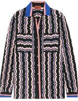 Missoni Wool-Blend Crochet-Knit Shirt
