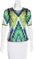 Milly Printed Short Sleeve Top w/ Tags