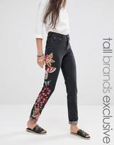Glamorous Tall Boyfriend Jean With Embroidered Leg