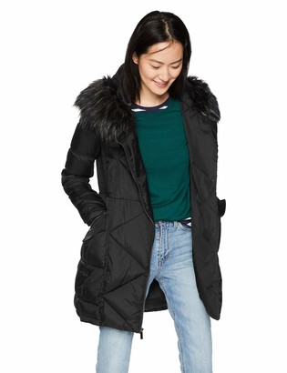 French Connection Women's 3/4 Asymmetrical Oversized Puffer Coat