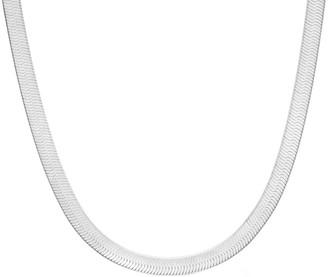 Sphera Milano 14K Over Silver Herringbone Snake Necklace