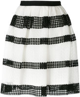 MICHAEL Michael Kors striped lace pleated skirt - women - Cotton/Polyester - 2