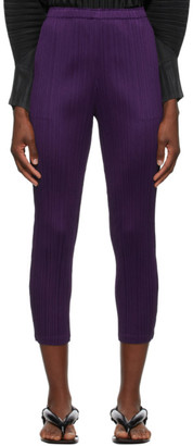 Pleats Please Issey Miyake Purple Monthly Colors September Trousers