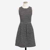 J.Crew Factory Striped pleated ponte dress with zip back