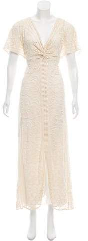 Anna Sui Lace-Accented Maxi Dress w/ Tags