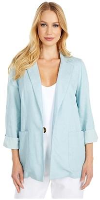 BCBGeneration Boyfriend Blazer - TSY4278741 (Blue Mist) Women's Clothing