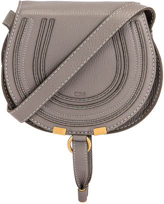 Chloé Small Marcie Crossbody Bag in Cashmere Grey | FWRD