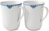 Royal Copenhagen Set of 2 Princess Mugs - Blue/White