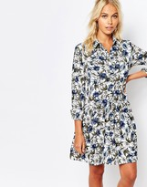 Fashion Union Shirt Dress In All Over Floral Print