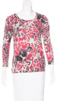 Piazza Sempione Leopard Print Long Sleeve Top