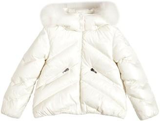 Moncler Anglais Nylon Down Jacket W/ Fur
